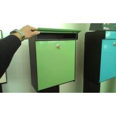 Design brievenbus Allux Grundform koper
