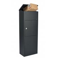 Pakketbrievenbus Allux 600 zwart