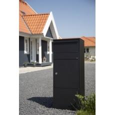 Pakketbrievenbus Allux 800 zwart