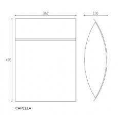 Formani design brievenbus Capella RVS (aisi 316)