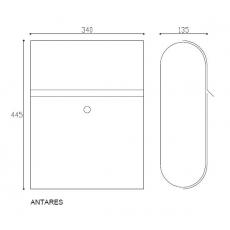 Formani Basic design brievenbus Antares RVS (aisi 316)