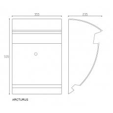 Formani Basic design brievenbus Arcturus RVS (aisi 316)