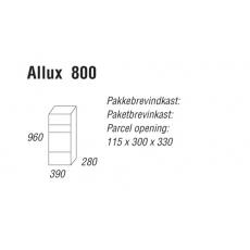 Pakketbrievenbus Allux 800 antraciet - deurtje achterzijde