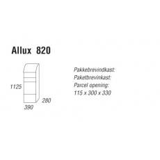 Pakketbrievenbus Allux 820 gegalvaniseerd