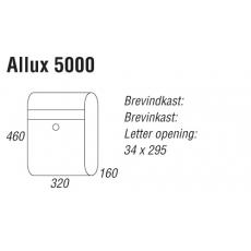 Brievenbus Allux 5000 zwart met grijze klep