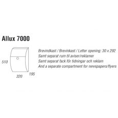 Brievenbus Allux 7000 zwart met RVS front