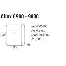 Brievenbus Allux 8900 wit