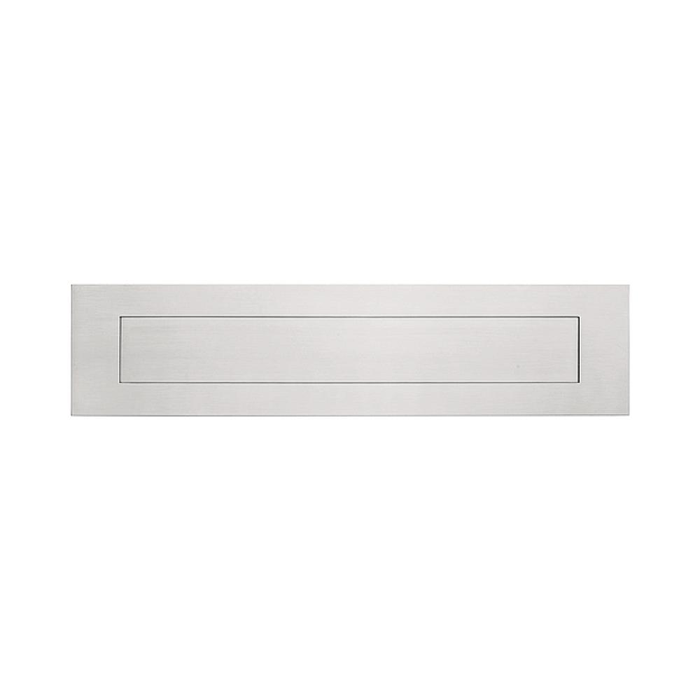 Formani Square LSQ620 briefplaat 400x100 PVD mat RVS