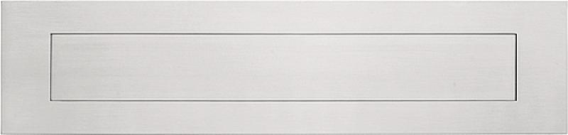 Formani Square LSQ620 briefplaat 400x100 mat RVS