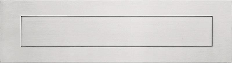 Formani Square LSQ621 briefplaat 300x80 mat RVS