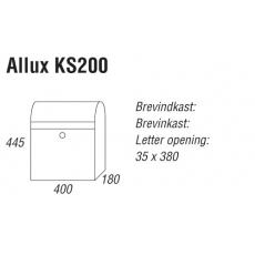 Brievenbus Allux KS200 gegalvaniseerd