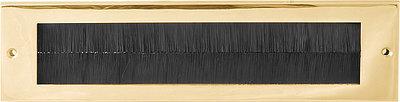 Formani Timeless F535BI briefplaat binnen (tochtborstel) messing ongelakt