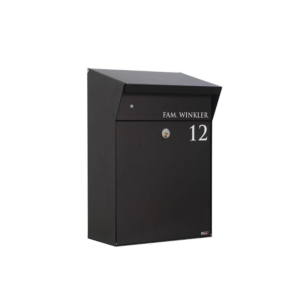Design brievenbus met LED-verlichting Allux Bj�rn - zwart