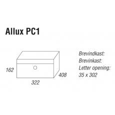 Systeembrievenbus Allux PC1 aluminium