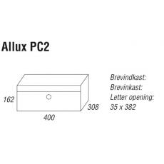 Systeembrievenbus Allux PC2 aluminium dubbele ingang