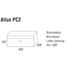 Systeembrievenbus Allux PC2 afmetingen