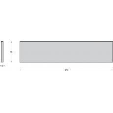 Tochtwering rechthoek met klep verdekt RVS