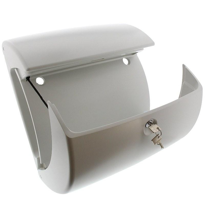 burg w chter kiel kunststof brievenbus wit. Black Bedroom Furniture Sets. Home Design Ideas
