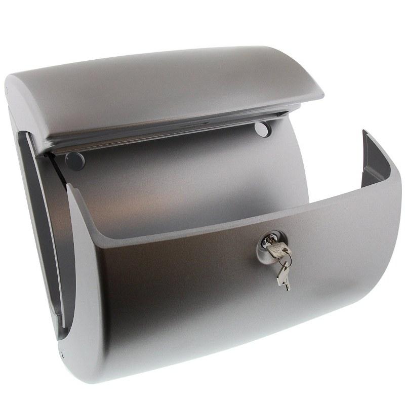 burg w chter kiel kunststof brievenbus zilvergrijs. Black Bedroom Furniture Sets. Home Design Ideas