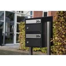 Postkastsysteem Allux Brick - zwart