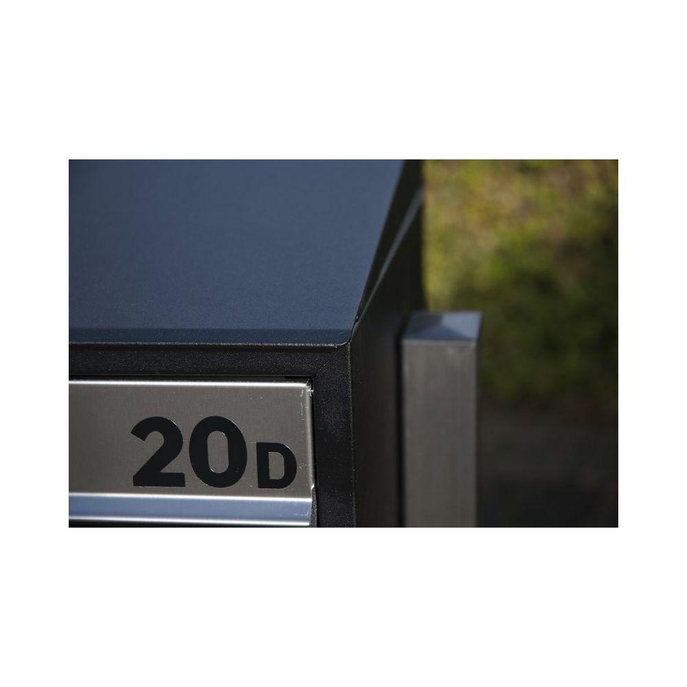 Huisnummer inclusief beplakken op postkastsysteem Allux Brick