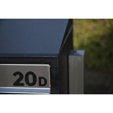 Benaming inclusief beplakken op postkastsysteem Allux Brick