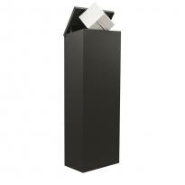 Pakketbrievenbus Allux 600 zwart - achteruitname
