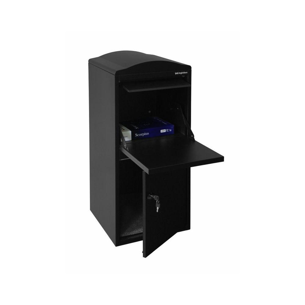 Pakketbrievenbus Logixbox Frontbox - zwart