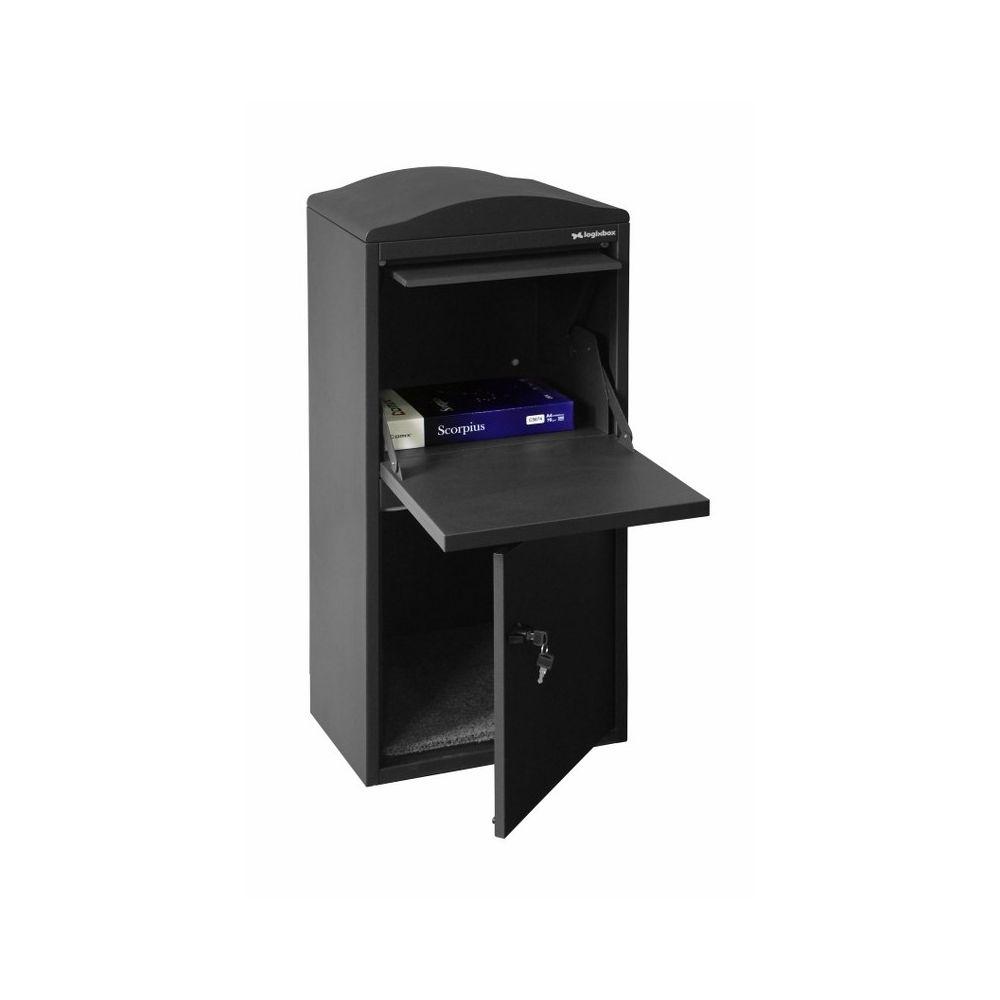 Pakketbrievenbus Logixbox Frontbox - grijs