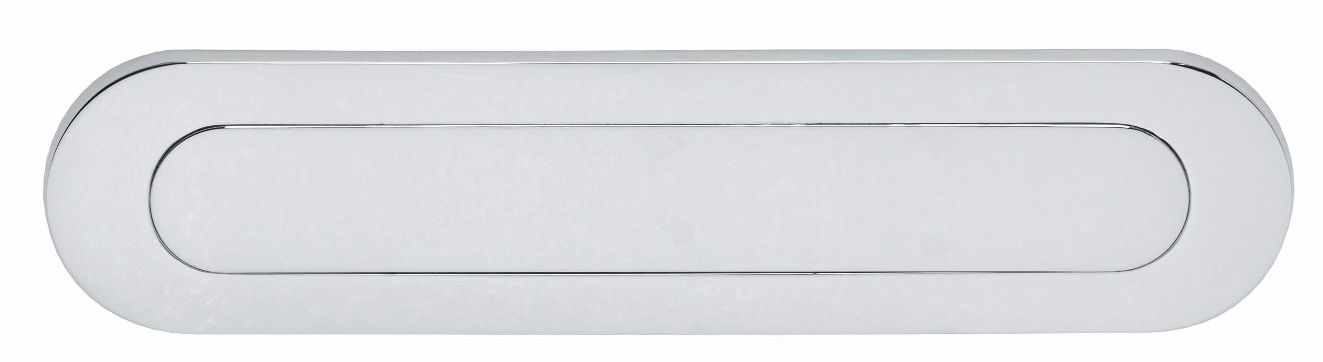 Intersteel Briefplaat ovaal met veer chroom
