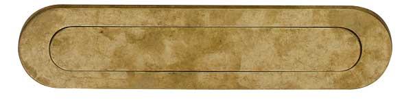 Intersteel Briefplaat ovaal met veer messing getrommeld
