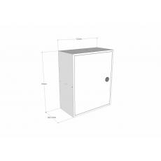 STOER! Post inbouwkast met deurtje - antraciet 165mm