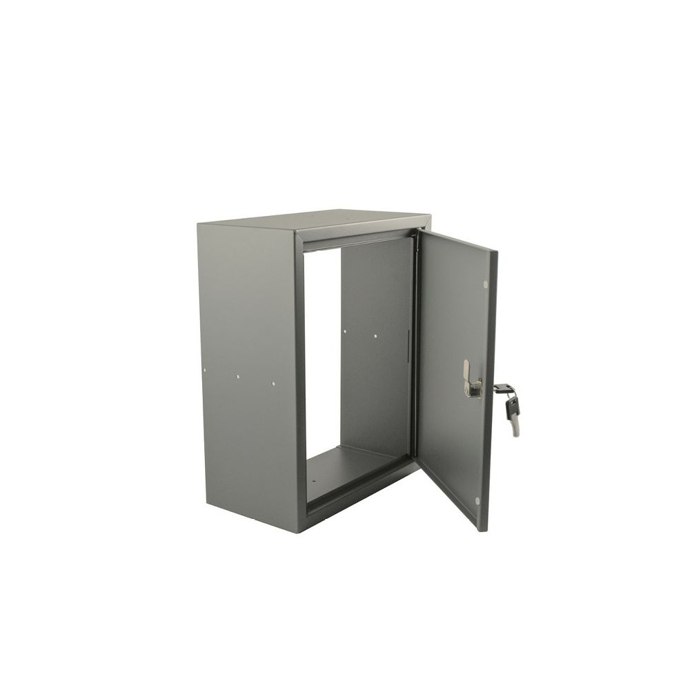 STOER! Post inbouwkast met deurtje balsaltgrijs 165mm