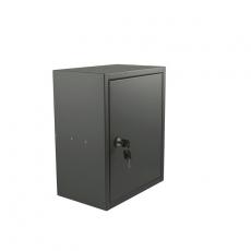 STOER! Post inbouwkast met deurtje - antraciet 215mm