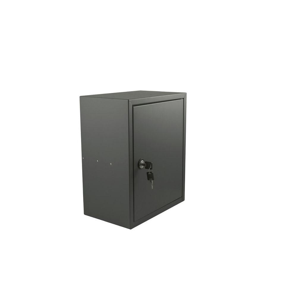 STOER! Post inbouwkast met deurtje antraciet 215mm