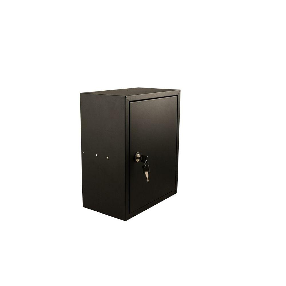 STOER! Post inbouwkast met deurtje zwart 215mm