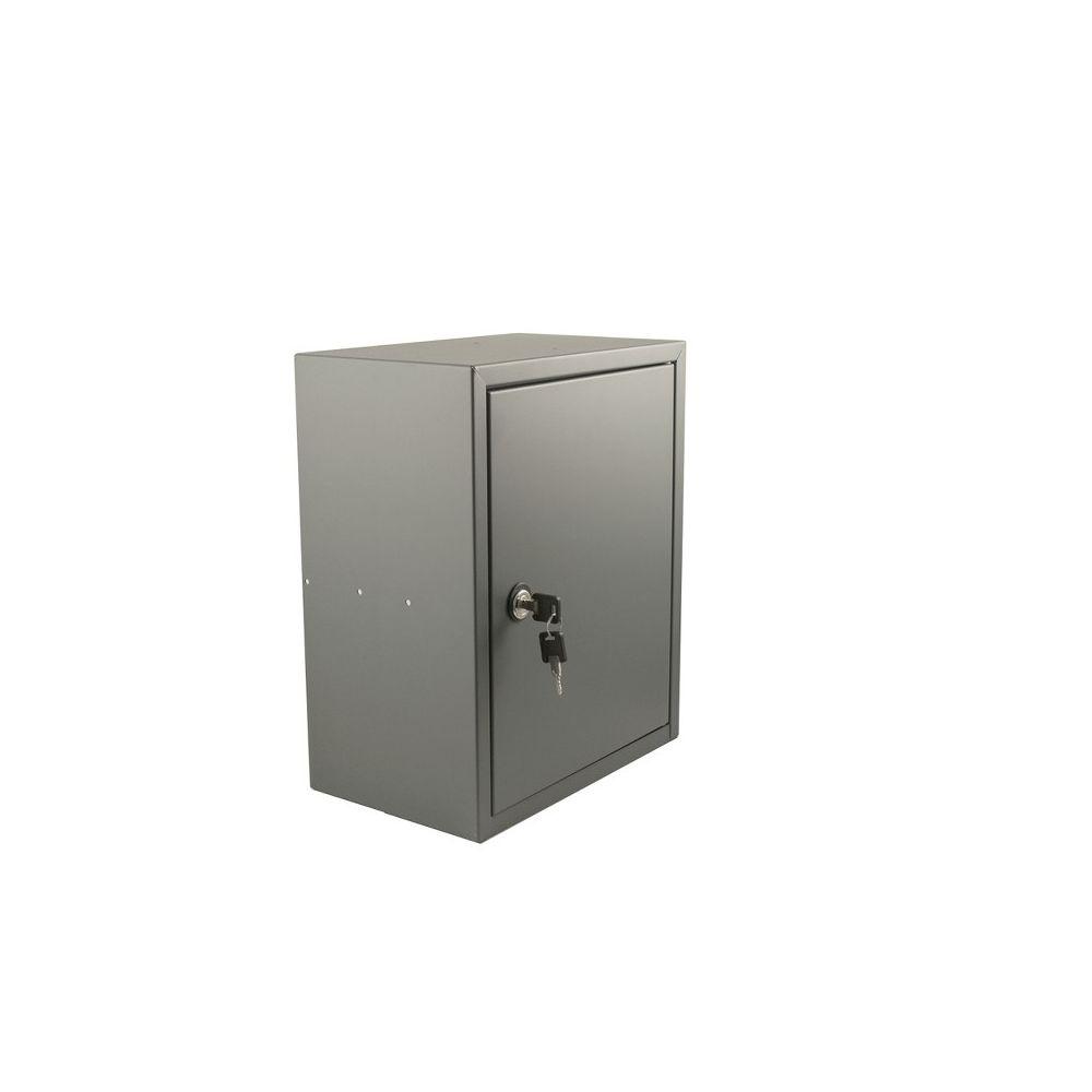 STOER! Post inbouwkast met deurtje basaltgrijs 215mm