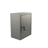 STOER! Post inbouwkast met deurtje - basaltgrijs 215mm