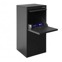 Pakketbrievenbus Logixbox Frontbox DeLuxe achteruitname - grijs