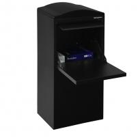 Pakketbrievenbus Logixbox Frontbox achteruitname - zwart