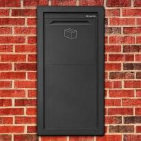 Pakketbrievenbus Logixbox Frontbox Inbouw achteruitname - grijs