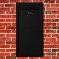 Pakketbrievenbus Logixbox Frontbox Inbouw achteruitname - zwart
