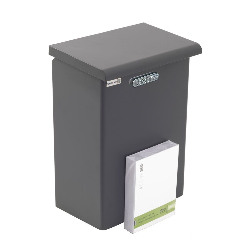 Pakketbox Logixbox Topbox-XL met codeslot - grijs