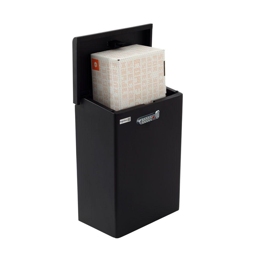 Pakketbox Logixbox Topbox-XL met codeslot - zwart