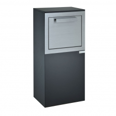 Pakketbrievenbus Logixbox RVS Designbox - glanzend zwart