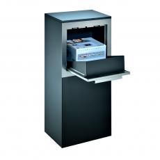 Pakketbrievenbus Logixbox RVS Designbox-Inbouw - mat zwart
