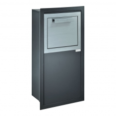 Pakketbrievenbus Logixbox RVS Designbox-Inbouw - glanzend zwart