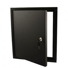 STOER! Inbouwframe met deurtje - zwart
