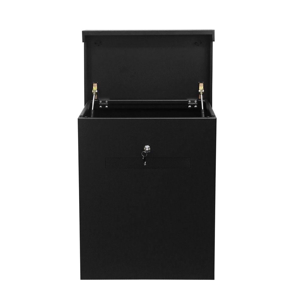 Pakketbox Logixbox Topbox-XL Plus met brievenbusklep - zwart