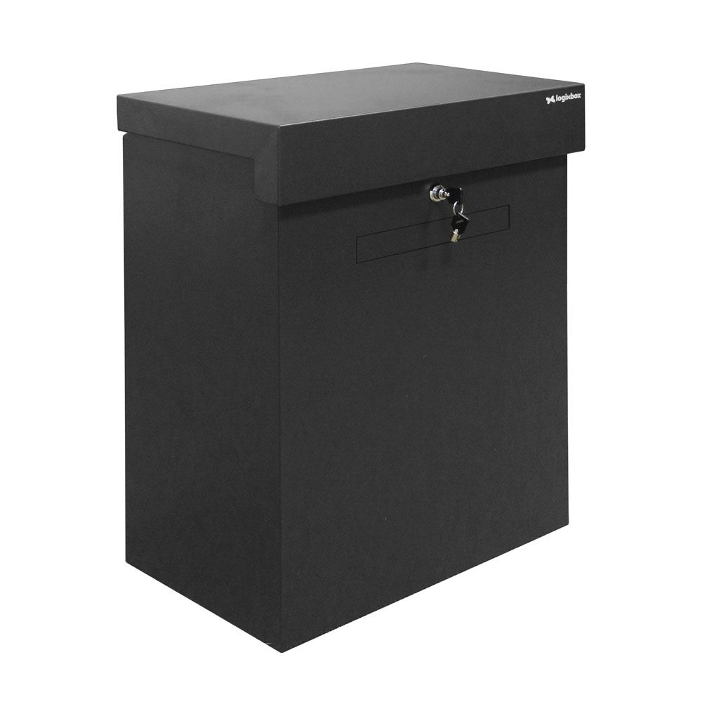 Pakketbox Logixbox Topbox-XL Plus met brievenbusklep - grijs